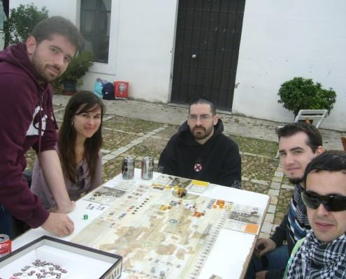 Partida al juego de mesa Vintage