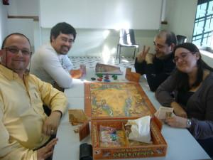 Partida a cuatro jugadores a Tigris & Euphrates