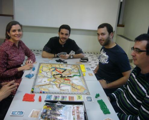 Aventureros Al Tren, partida a cinco jugadores a este juego de mesa