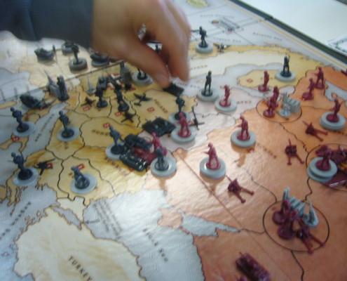 Axies & Allies, primer plano del tablero de juego