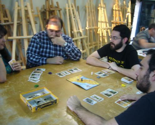 Partida al juego de mesa Condottiere