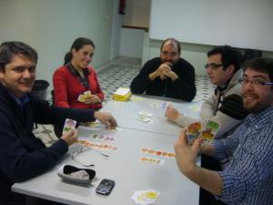 Partida al juego de mesa Bohnanza