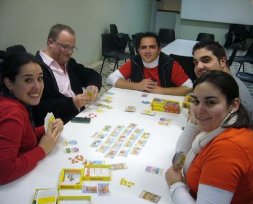 Bohnaparte, partida al juego de mesa