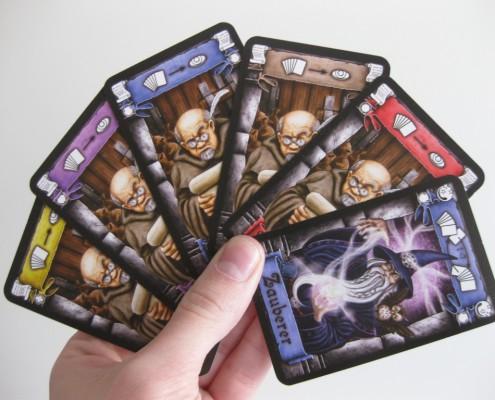 Mano de cartas del juego de mesa Palastgeflüster