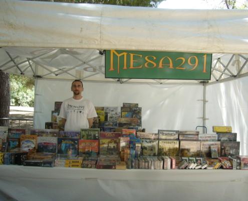 Stand de la tienda de juego de mesa Mesa 291