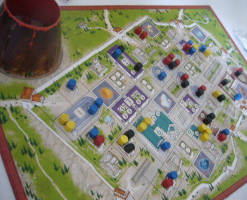 Pompeya, detalle del tablero de juego