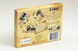 Detalle de la caja del juego de mesa Coup