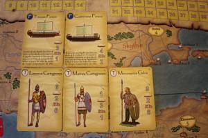 Imperios del Mediterraneo, detalle de las cartas