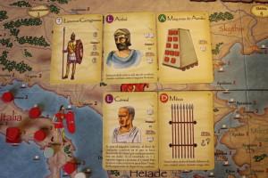 Imperios del Mediterraneo, ejemplo de jugada