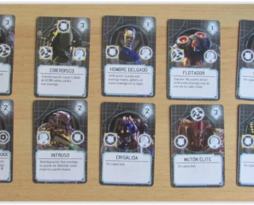 XCOM: El juego de tablero Enemigos