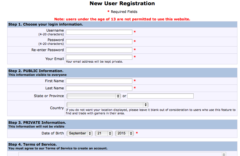 BBG. Registro nuevos usuarios