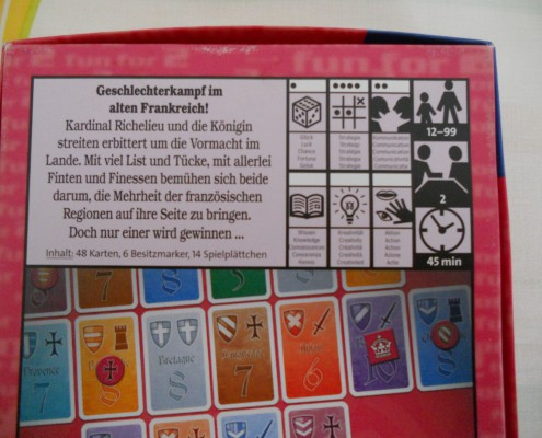 Iconos de información del juego de mesa Richelieu